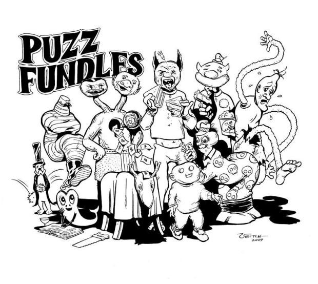 PUZZ FUNDLES pic by VEITCH  b&wh