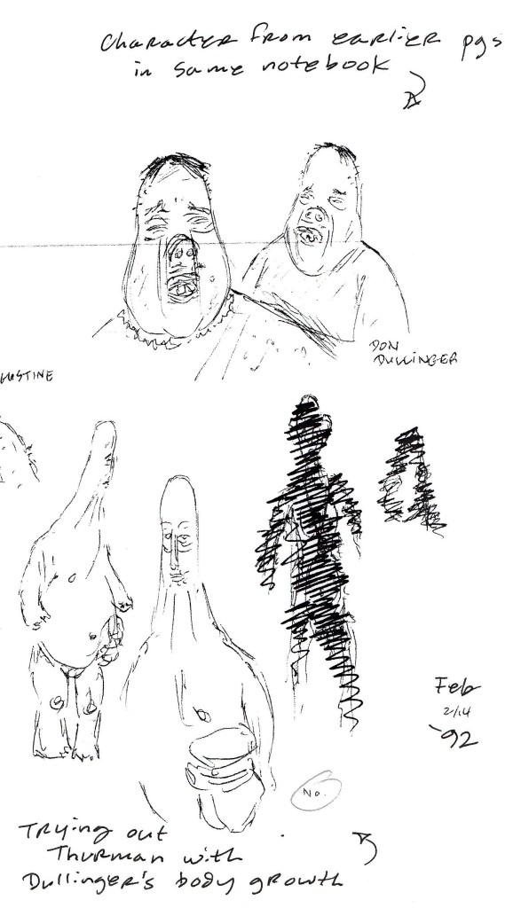 #21b sketches split b Thurman