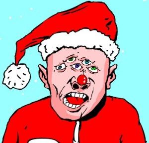 Santa multiple eyed  post 12 25 '011 via RH