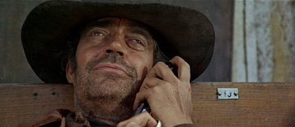 Jack Elam the fly in the gun barrel