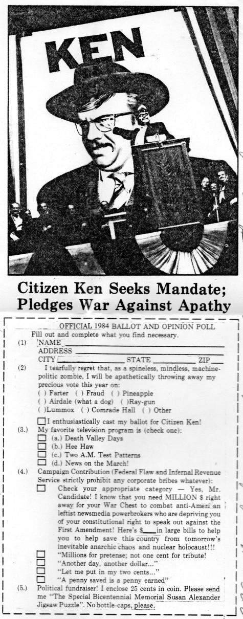 Citizen Ken from letter 7 '93